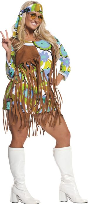 Adult Retro Hippie Costume Plus Size