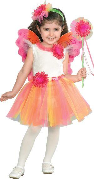 Toddler Girls Fuchsia Daisy Princess Costume