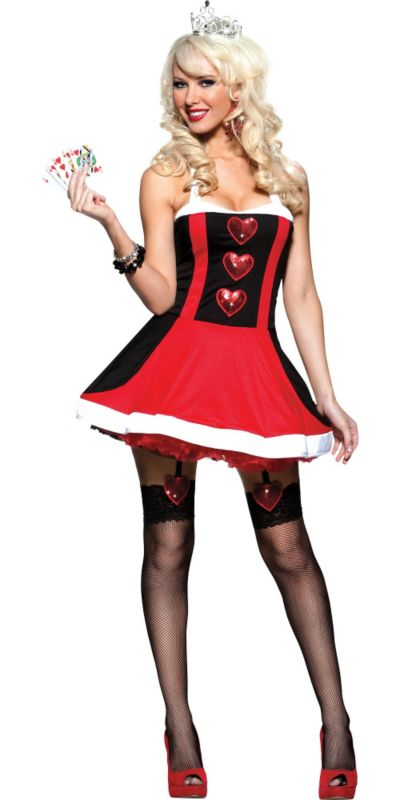 Adult Valentines Queen of Hearts Costume