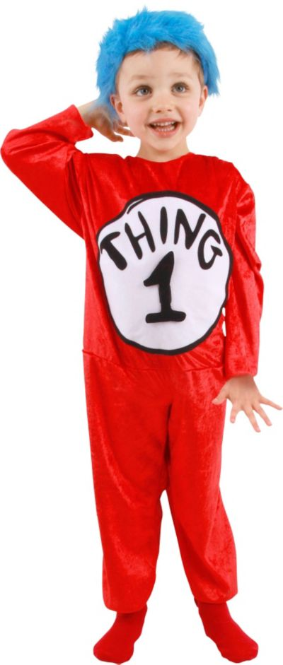 Child Thing 1 and Thing 2 Jumpsuit Costume - The Cat in the Hat