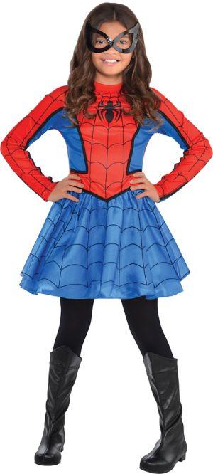Girls Red Spider-Girl Costume
