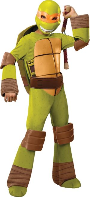 Boys Michelangelo Costume Deluxe - Teenage Mutant Ninja Turtles
