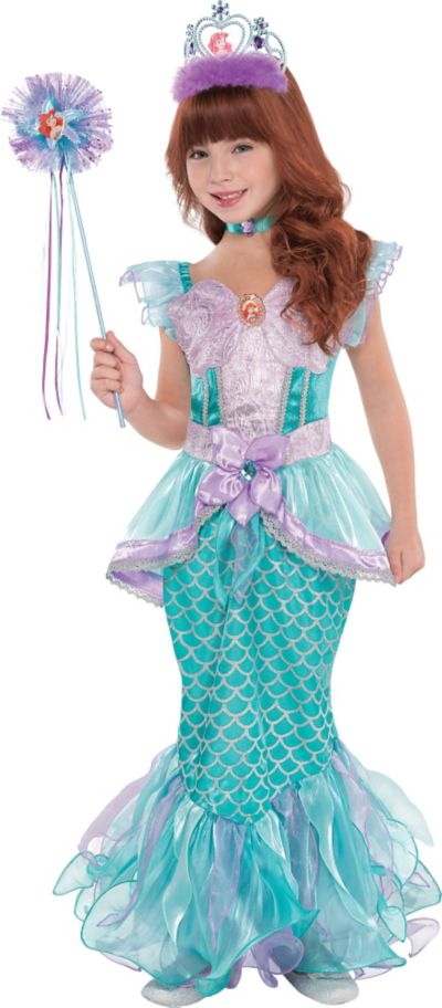 Girls Ariel Supreme Costume - The Little Mermaid