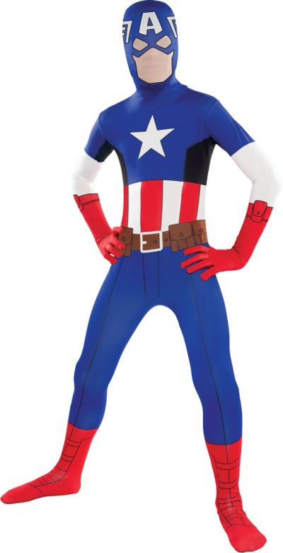 Teen Captain America Partysuit