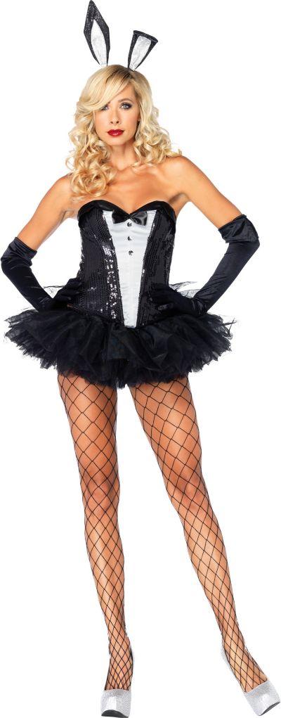 Adult Sequin Tuxedo Bunny Costume