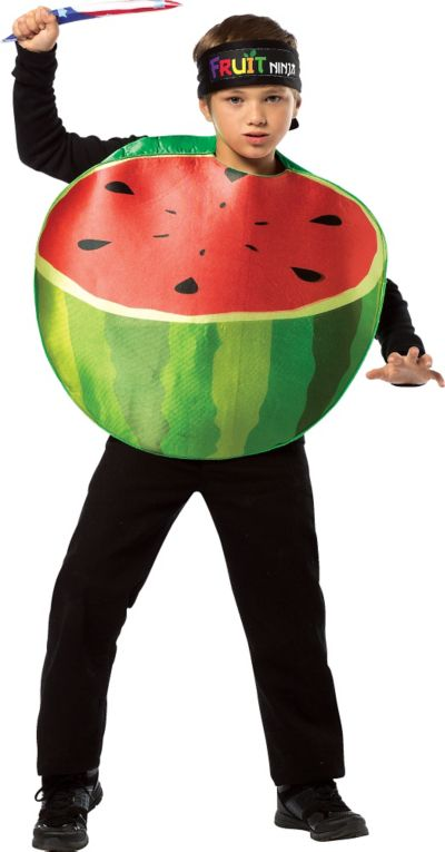 Boys Watermelon Fruit Ninja Costume
