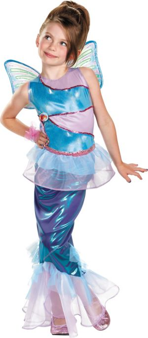 Girls Mermaid Bloom Costume Deluxe - Winx Club