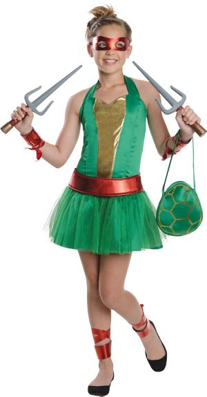 Teen Girls Raphael Costume - Teenage Mutant Ninja Turtles