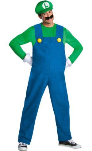 Adult Luigi Costume Premium - Super Mario Brothers