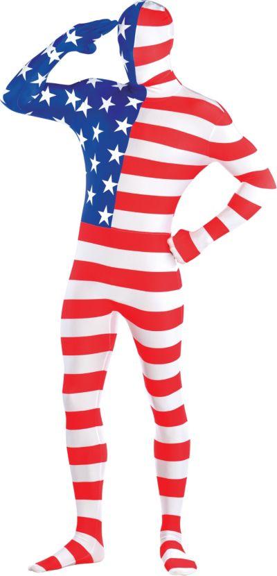 Adult American Flag Partysuit
