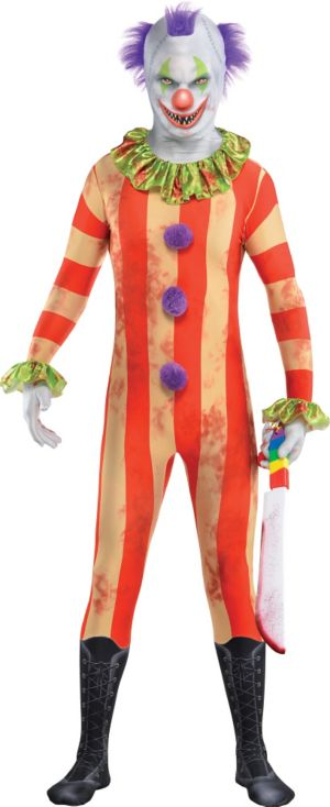 Teen Creepy Clown Partysuit