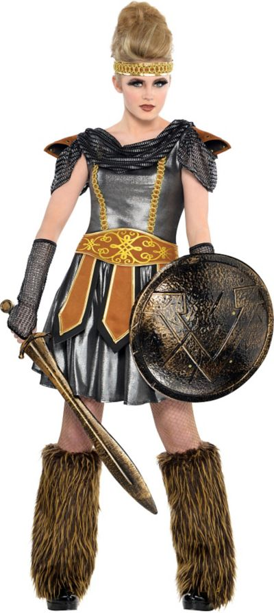Teen Girls Warrior Princess Costume