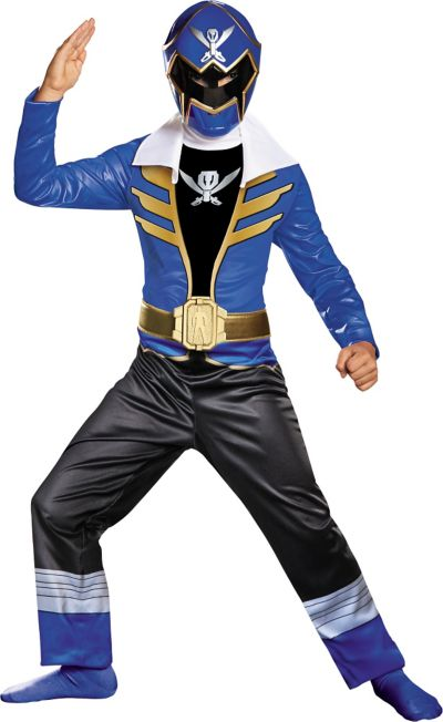 Boys Blue Ranger Costume - Power Rangers Super Megaforce