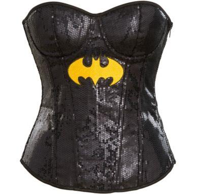 Adult Sequin Batgirl Corset - Batman