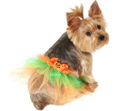 Orange Pumpkin Dog Tutu