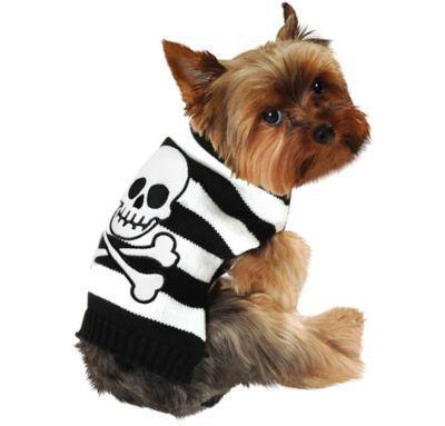Striped Skull-and-Crossbones Dog Sweater