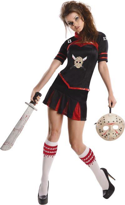 Adult Corset Jason Cheerleader Costume - Friday the 13th