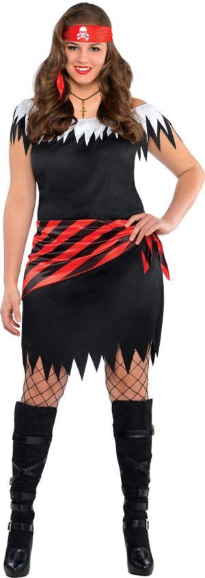 Adult Ahoy Katie Pirate Costume Plus Size