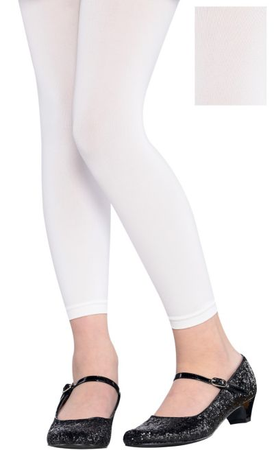 Child White Footless Tights