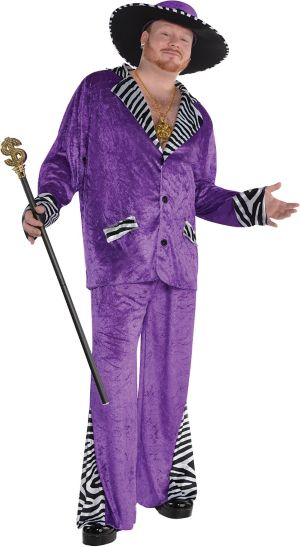 Adult Sugar Daddy Pimp Costume Plus Size