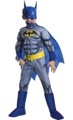 Boys Batman Muscle Costume Deluxe - The Brave and the Bold
