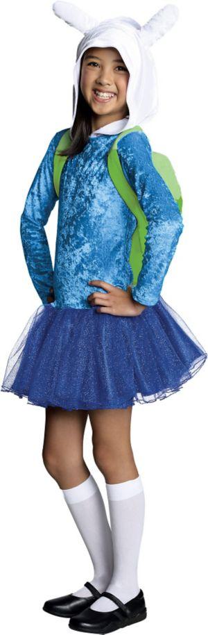 Girls Hooded Fionna Tutu Costume - Adventure Time