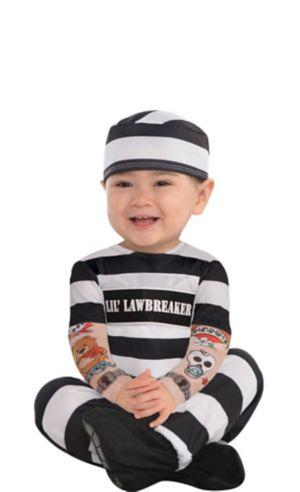 Baby Li'l Lawbreaker Prisoner Costume