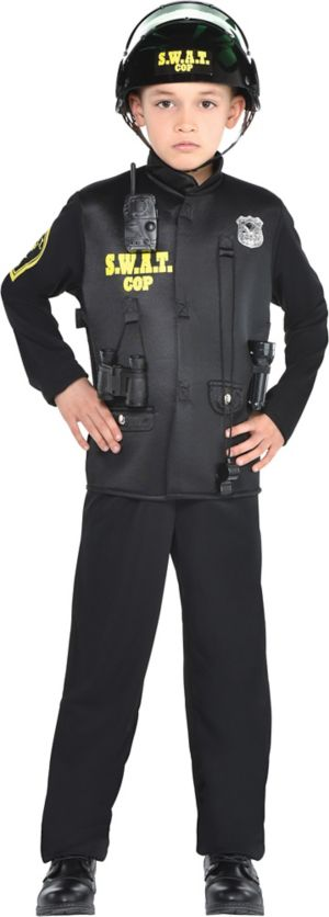 Toddler Boys SWAT Cop Costume
