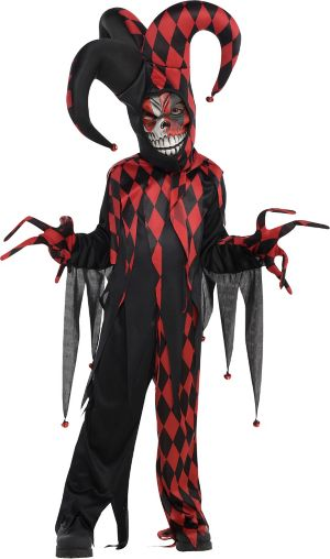 Little Boys Krazed Jester Costume