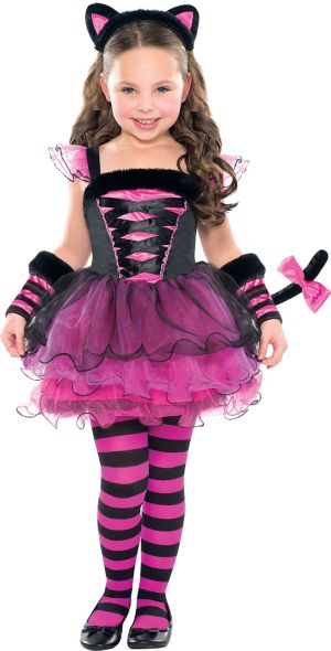 Toddler Girls Purrfect Ballerina Cat Costume