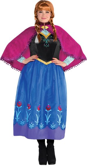 Adult Anna Costume Plus Size - Frozen