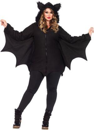 Adult Cozy Bat Costume Plus Size