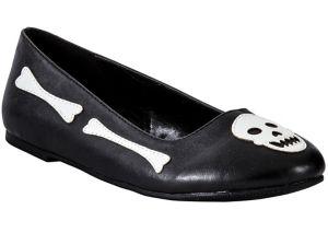 Child Skull & Crossbones Flat Shoes