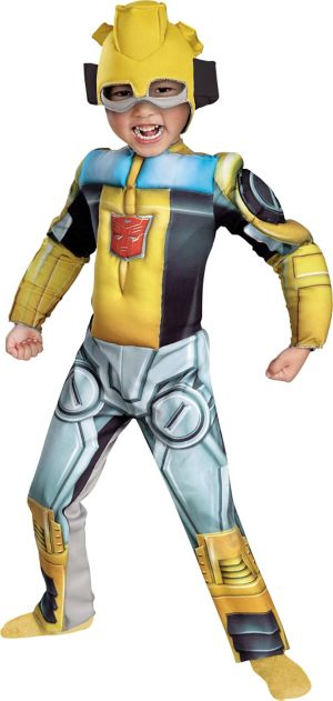 Toddler Boys Bumblebee Muscle Costume - Transformers: Rescue Bots
