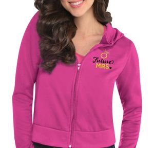 Pink Future Mrs. Zip-Up Hoodie - Sassy Bride