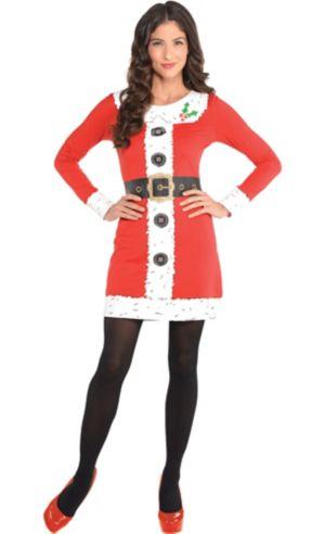 Adult Santa Long-Sleeve Dress