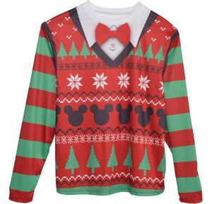 Mickey Mouse Ugly Christmas Sweater Long-Sleeve Shirt