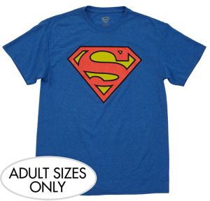 Heather Blue Superman Logo T-Shirt