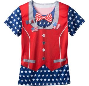 Ugly Patriotic Bow Tie & Vest T-Shirt