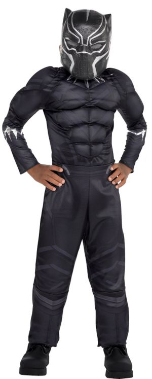 Little Boys Black Panther Muscle Costume - Captain America: Civil War