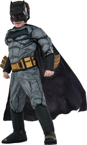 Little Boys Batman Muscle Costume Deluxe - Batman v Superman: Dawn of Justice
