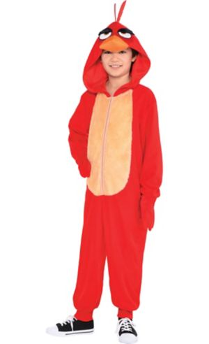 Boys Zipster Red Angry Bird One Piece Costume - The Angry Birds Movie