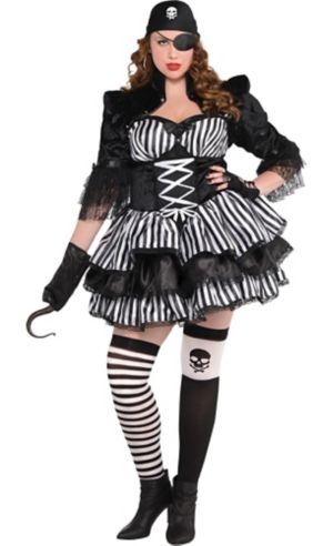 Adult Merciless Maiden Pirate Costume Plus Size