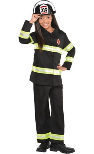 Girls Reflective Firefighter Costume