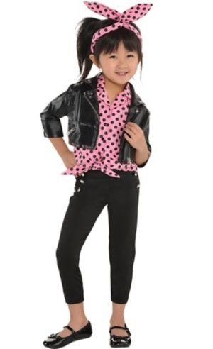Little Girls Pink Rockabilly Costume