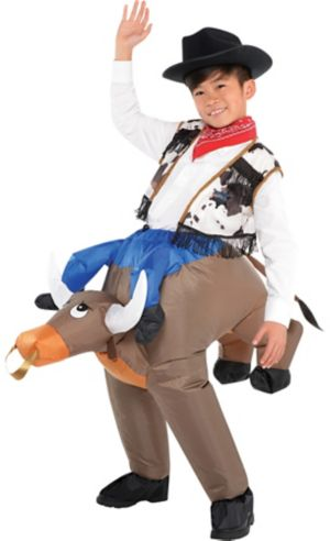 Boys Inflatable Bull Ride On Costume