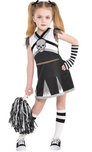 Little Girls Rah Rah Rebel Cheerleader Costume