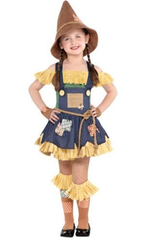 Little Girls Scarecrow Costume The Wizard Of Oz Party