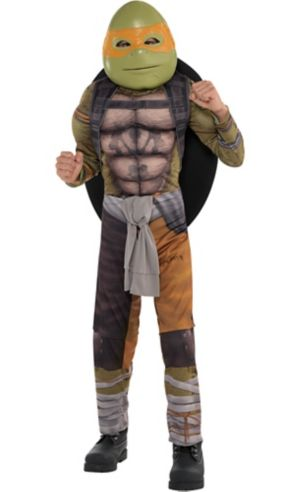 Boys Michelangelo Muscle Costume - Teenage Mutant Ninja Turtles 2