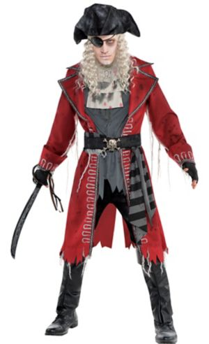 Adult Zombie Pirate Captain Costume